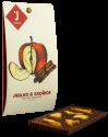 Mléčná čokoláda 47% jablko se skořicí 50g