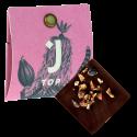 Tmavá čokoláda 67% s kousky bobů 4g